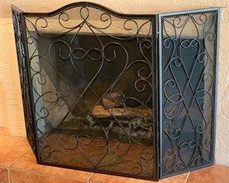 Scroll Iron Fireplace Screen