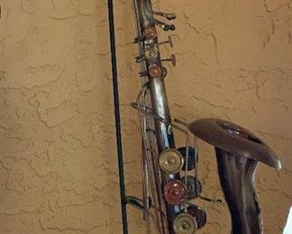 Rustic Saxophone Decor