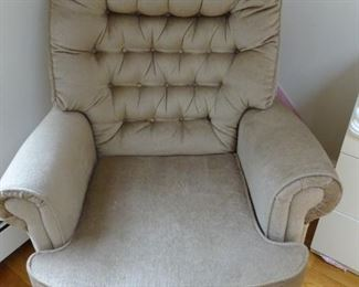 Rocking and swivel chair.