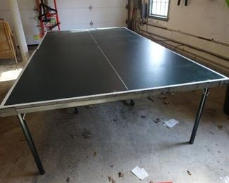 Table tennis board (ping pong). It folds for easy storage.