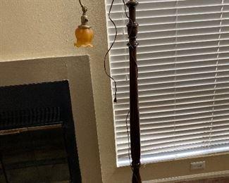 Unique antique glass blown lamp.