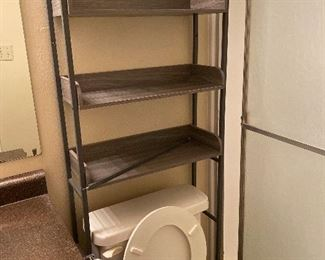 Over toilet bathroom shelving great condition.