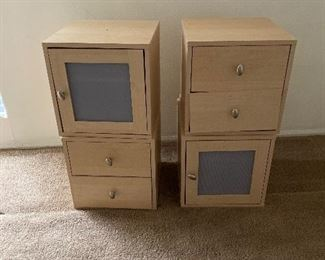 Stackable office cabinets.