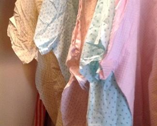 several nice hospital gowns