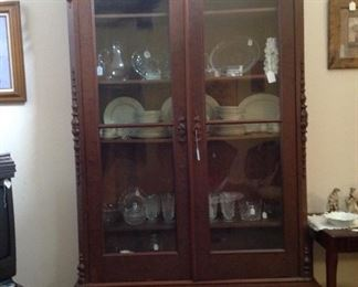 Very large and impressive antique China cabinet,  The drawer deatail is show in another picture