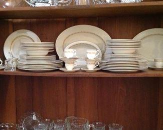 """""""Carleton """", large set of vintage, beautiful dishes by Castleton China"""
