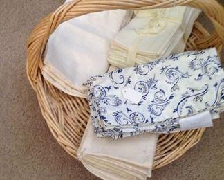 Basket full of cloth napkins