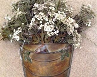 Planter with florals