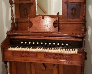 14 Antique Oak Peerless Pump Organ Pressed Carvings