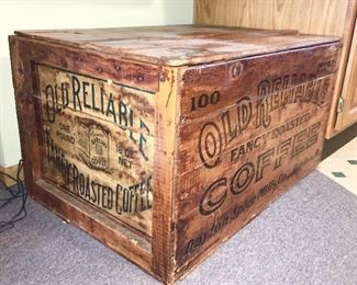 "Antique ""Old Reliable"" Coffee Box/Crate"