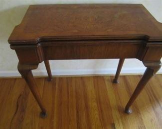 ANTIQUE GAME TABLE CLOSED