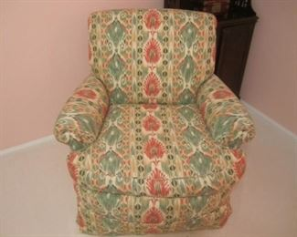 PAIR OF CHAIRS AND ONE OTTOMAN