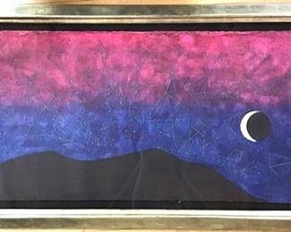 """""""Galaxia"""", Rufino Tamayo, 1899-1991, 46""""x20"""", mixographia."""