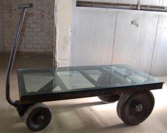 Reclaimed Industrial Steel Cart/Table by Blackman Cruz, 1960's