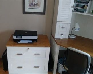 Matching two drawer side table