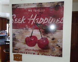 Seek happiness wall Art