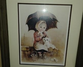 Framed and matted while Art