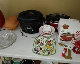 Assortment of small appliances and kitchen items
