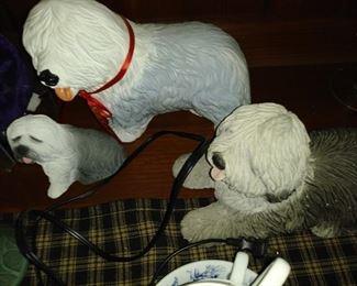 Sheepdog figurines