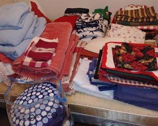 linens-towels, napkins, placemats, etc.