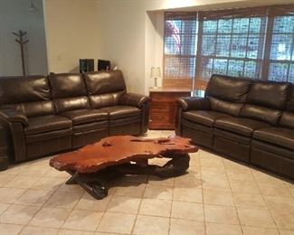 Unique California REDWOOD live-edge Coffee Table. Hard to find now-a-days. Table legs are also Redwood Limbs.