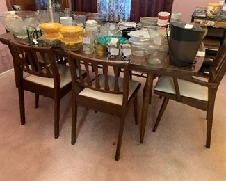 Holman Manufacturing danish walnut table and 6 chairs