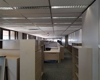      Build an Office     Steelcase Cubicles, Metal Bookshelves, Lateral Cabinets, Whiteboard, Walls, Clocks, Carpet Tile, Mini Blinds, Partitions, Filing Cabinet, Ceiling Tiles     See Video Walk-through     Take as much as you want!!!!