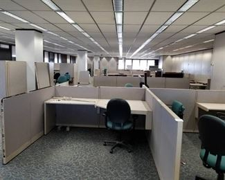      Build an Office     Steelcase Cubicles, Office Chairs, Conference Table, Lateral Cabinets, Office Furniture, Walls, Clocks, Carpet Tile, Partitions, Filing Cabinet, Ceiling Tiles     See Video Walk-through     Take as much as you want!!!!