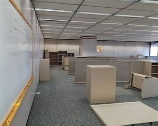      Build an Office     Steelcase Cubicles, Office Chairs, Conference Table, Lateral Cabinets, Whiteboards, Walls, Clocks, Carpet Tile, Mini Blinds, Partitions, Filing Cabinet, Ceiling Tiles     See Video Walk-through     Take as much as you want!!!!