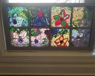 Local made pieced glass window