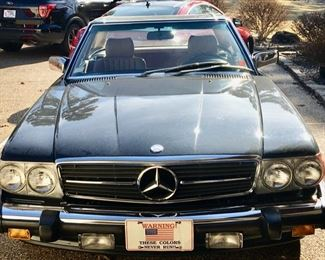 The Car Collectors Dream - 1988 Black Mercedes Benz 560SL 2 Door Coupe Roadster.  Hard Top Convertible in PRISTINE condition.  1 OWNER - 24,000 MILES.  Family has set the price: $35,800.00