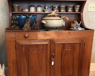 Studio pottery and a fab walnut dry sink