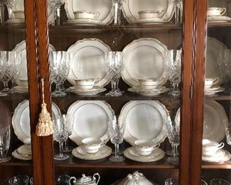 Spode Sheffield China goes perfect with Waterford Crystal!