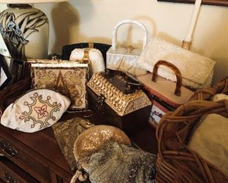 Purses galore vintage, antique, and brand new!