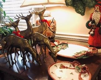 Brass Reindeer and Fitz and Floyd plus an Imari Lamp!