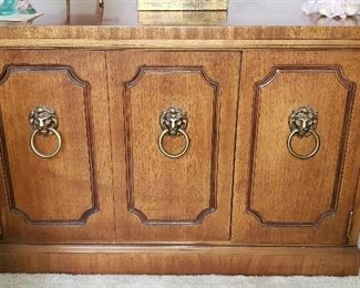 Decorative Accent Table with Lion Head Handles