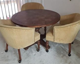 Game Table with Three Chairs