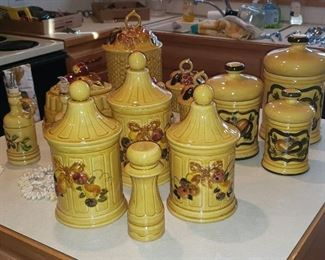 Vintage California Pottery Canister Sets