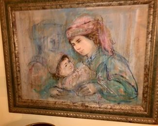 HABIL PAINTING, With mother child and a shadow figure