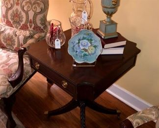 High end Mahogany table, Chippendale chairs