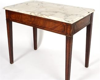 18th C English Marble Top Mixing Table