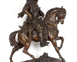 After Barye Guillemin Arabian on Horseback
