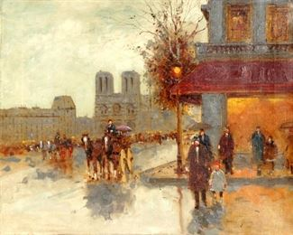 Andre Gisson Notre Dame Parisian Street Painting