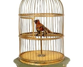 Large Singing Bird in Cage Automaton