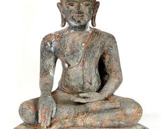 Large Southeast Asian Bronze Seated Buddha