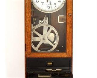 Oak International Time Clock from Stickley Furn.