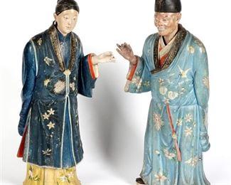 Pr 19th C Chinese Nodding Head Figures