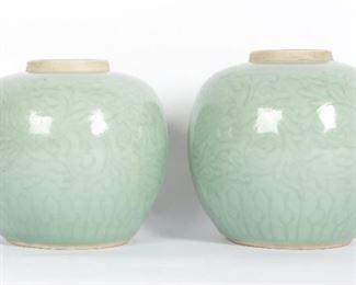 Pr Chinese Celadon Jars