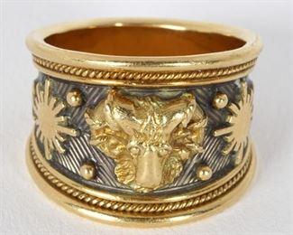 Elizabeth Gage 18k Aries Zodiac Ring