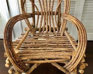 Vintage Bent Willow Chair https://ctbids.com/#!/description/share/281402